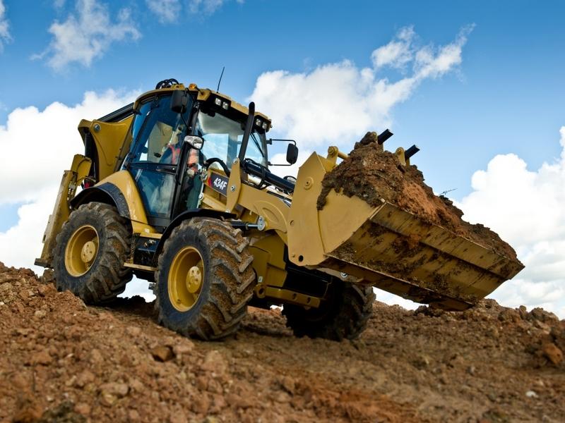 Buldoexcavator CATERPILLAR 434 F de inchiriat